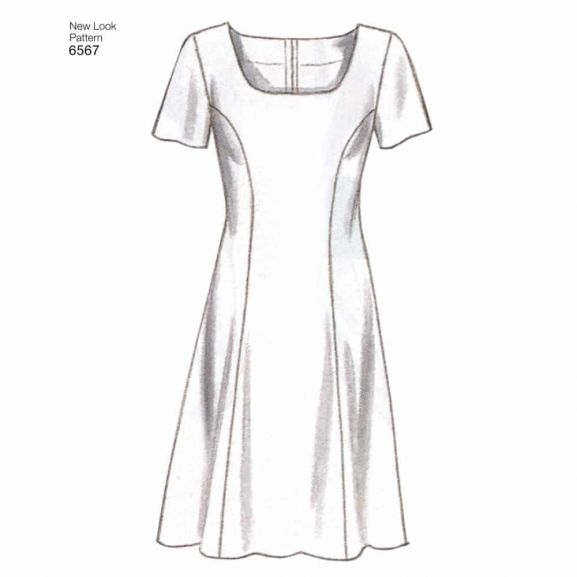 New Look Sewing Pattern 6567 Misses Dresses Size A 6-8-10-12-14-16