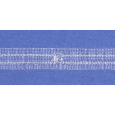 Remnant - Translucent Diana Roman Blind Ring Tape 20mm wide -Rings 6/10mm - 1m LENGTH -End of Line