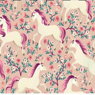 Digital Cotton Print  - Magical Unicorns