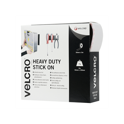 VELCRO® brand Hook & Loop Tape: Heavy Duty Stick On 50mm White