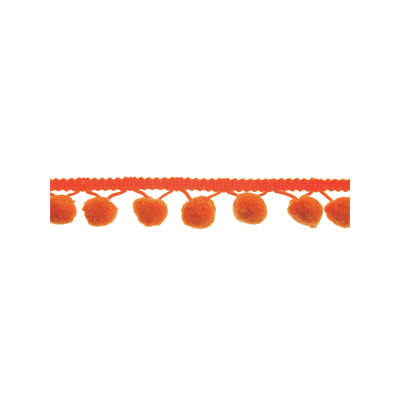 20mm Pom Pom Trim Orange