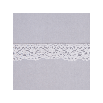 Scalloped Edge Classic Cotton Lace Trim 20mm Wide - White