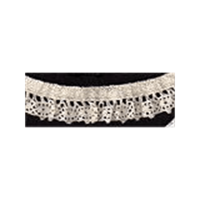 Elasticated Cotton Lace Trim 25mm Wide - Natural