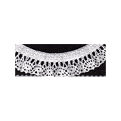 Elasticated Cotton Lace Trim 25mm Wide - White