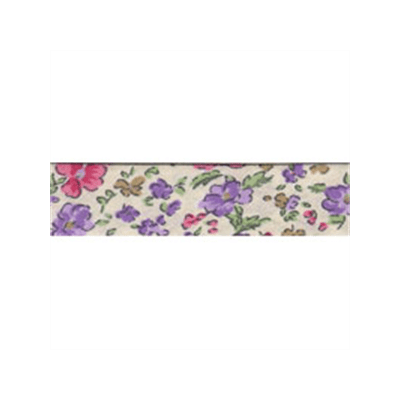20mm Bias Binding Ditsy Floral Lilac Pink Cream