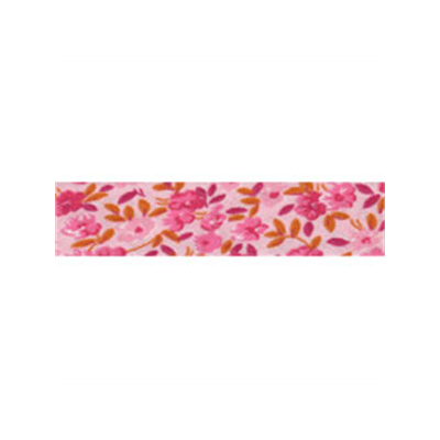 20mm Bias Binding Pink Patterned Floral