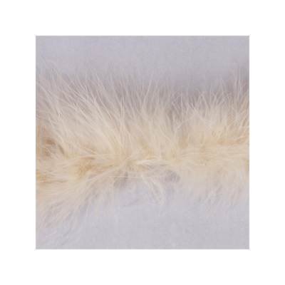 Luxury Marabou 4mm Trim Light Beige