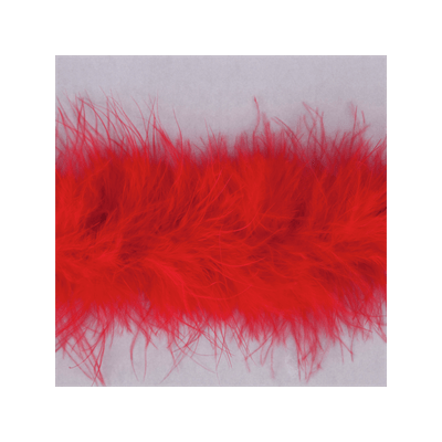 Luxury Marabou 4mm Trim Red