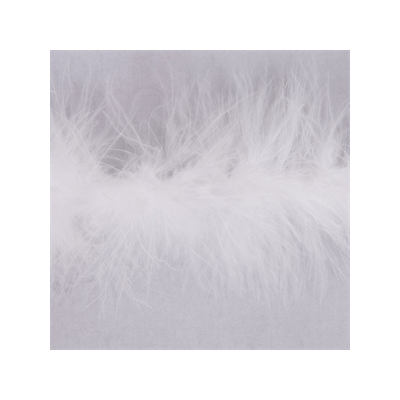 Luxury Marabou 4mm Trim White