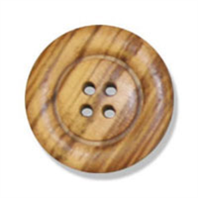 Round Olive Wood 4 Hole Button 23mm