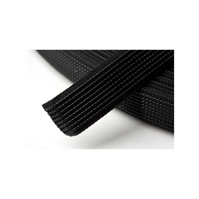 Hemline Uncovered Polyester Boning 12mm Wide - Black