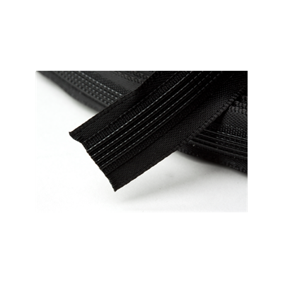 Hemline Satin Covered Polyester Boning 15mm Wide - Black