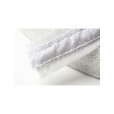 Hemline Felt Covered Boning 18mm Wide - White