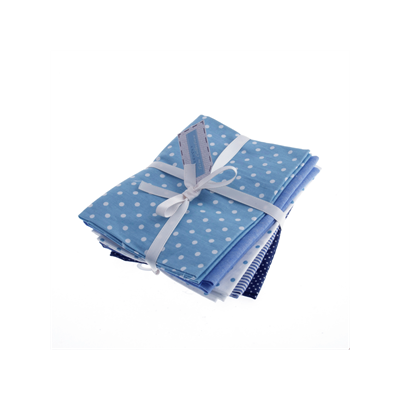 Linen Blend - Bold Blues - 5 Fat Quarters