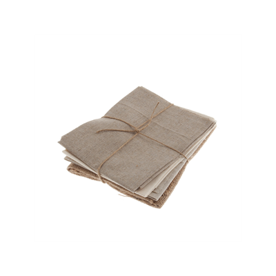 Linen Blend - Hessian & Natural - 4 Fat Quarters
