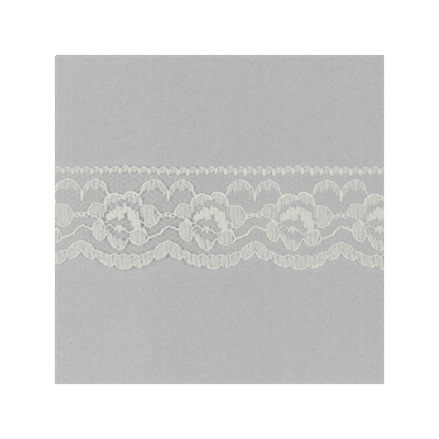 Scalloped Edge Buttercup Lace Trim 35mm Wide - Ivory