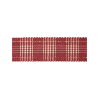 25mm Rustic Plaid Dusky Pink Ribbon 3m Reel