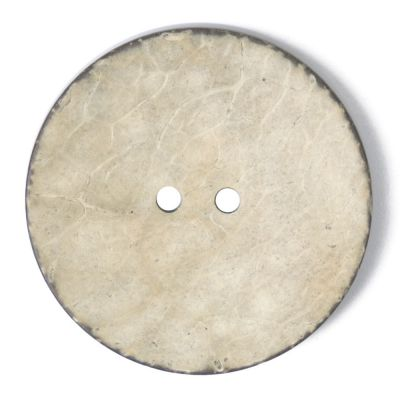 Round Coconut Shell Button - Ivory - 40mm / 64L