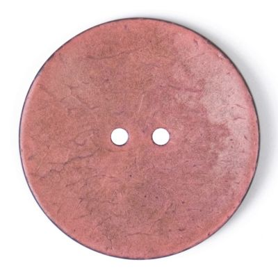 Round Coconut Shell Button - Pink - 40mm / 64L