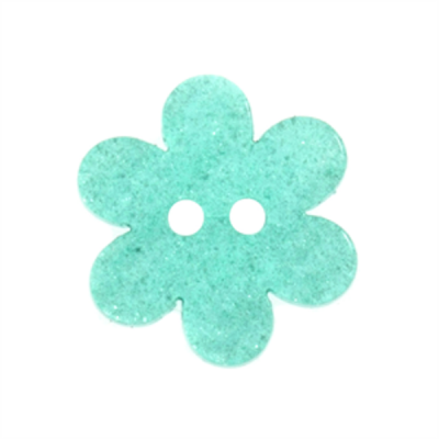 Light Blue Shimmer Flower Two Hole Button 23L/14mm