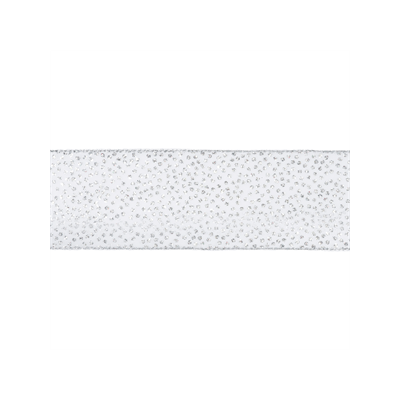 Remnant -Wire Edged Christmas Ribbon - Silver Glitter Dots - 63mm - 450cm LENGTH