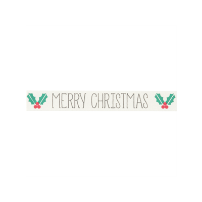 Bowtique Novelty Christmas Ribbon - Merry Christmas On Natural - 15mm