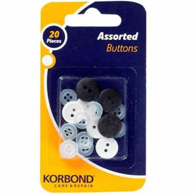 Korbond Assorted Buttons 20 Pieces