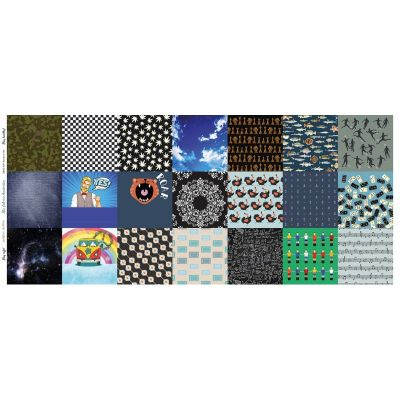Digital Cotton Print - Assorted Pattern Squares - 21 Squares - 60cm Panel