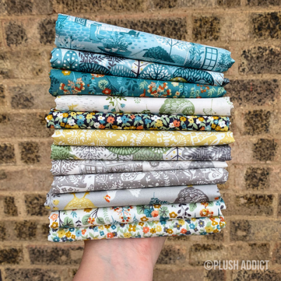 Makower - Clara's Garden - Fat Quarter Bundle - 6 Fabrics