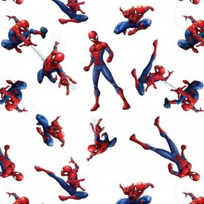 Cotton Poplin Fabric - Spiderman