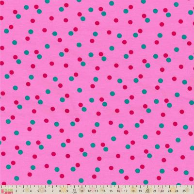 Little Darling - Cotton Jersey - Spots Pink