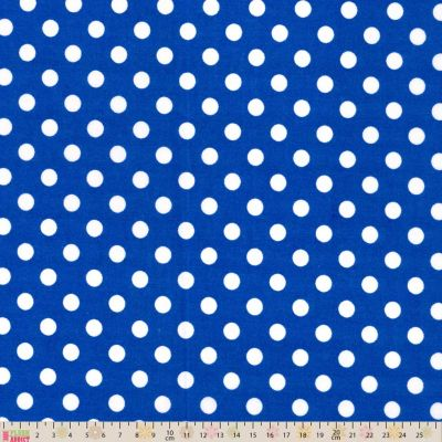 Polycotton - Peaspot Royal Blue