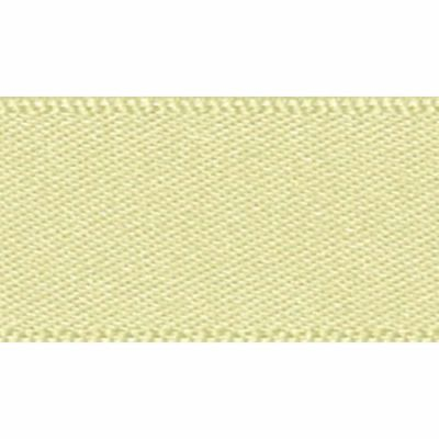Berisfords Double Faced Satin Pale Lemon Ribbon 20m Reel