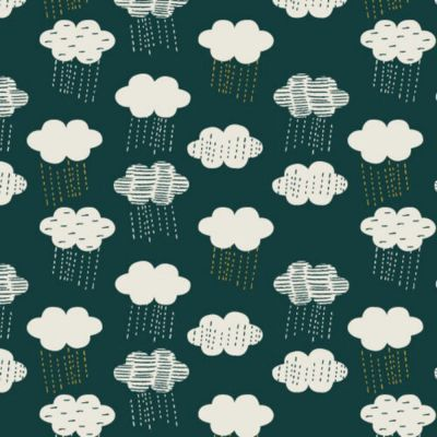 Dashwood - Cotton Linen Blend - Midnight Garden - Clouds