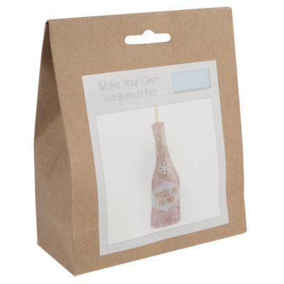 Trimits Felt Decoration Kit: Christmas: Bottle of Fizz