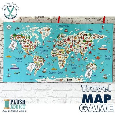 Around The World Game  - FULL KIT To Make Your Own Travel Map Game