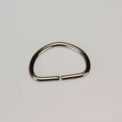 19mm D Ring Nickel