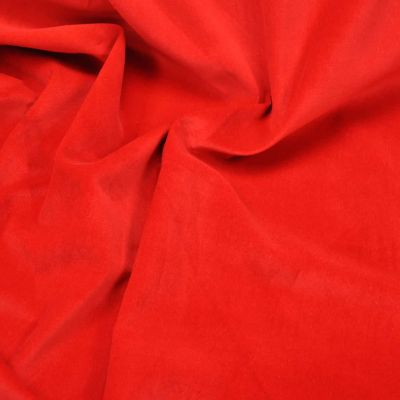 Cotton Velvet - Solid Red