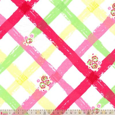 Polycotton - Bright Cross Weave Red