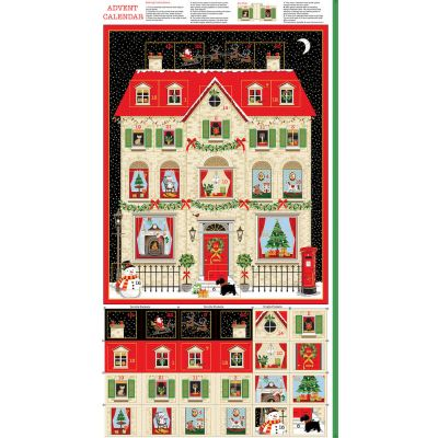 Makower - House Advent Calendar Panel - 60cm