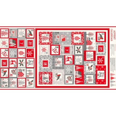 Makower - Scandi 2020 - Advent Calendar Panel - 60cm