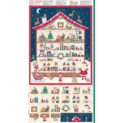 Makower - Let It Snow - Workshop Advent Calendar Panel - 60cm