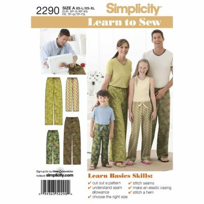 Simplicity Sewing Pattern 2290 Childs, Teens & Adults Trousers