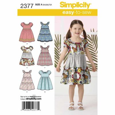 Simplicity Sewing Pattern 2377 Childs Dresses