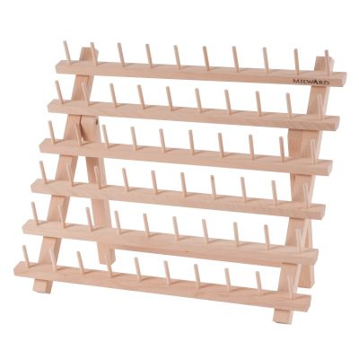 Milward 60 Spool Beech Wood Thread Rack