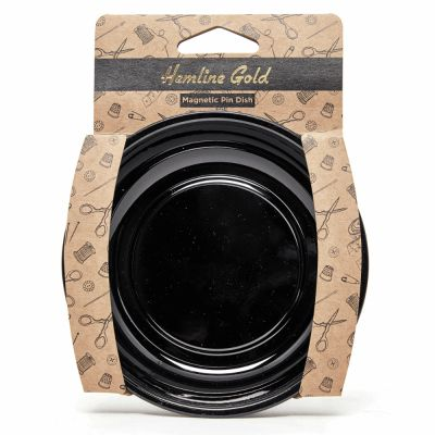 Hemline Gold Premium Magnetic Pin Dish - Black