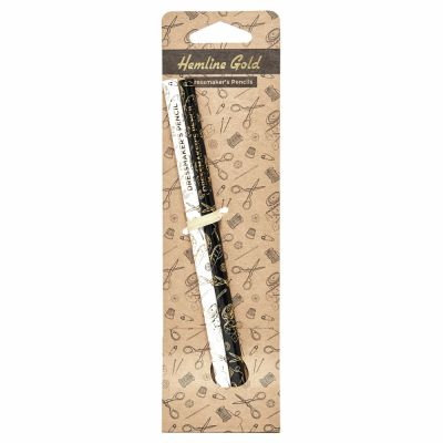 Hemline Gold Dressmakers Water Soluble Pencils - Grey and White - 2 Pieces