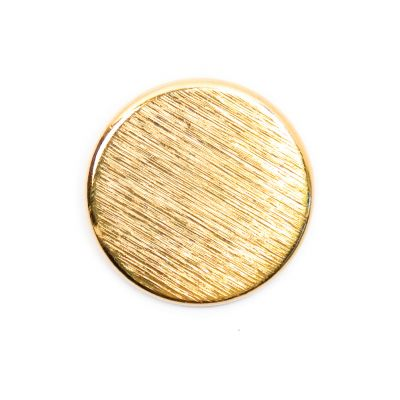 Brushed Metal Round Shank Button Gold Coloured 23mm