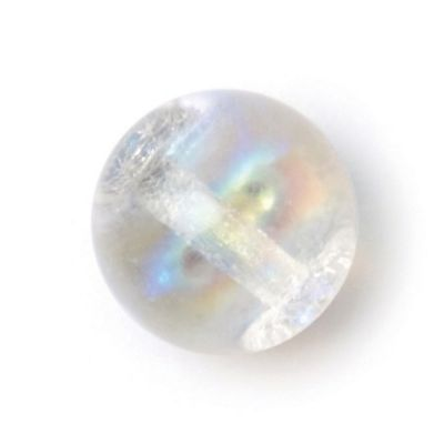 Round Glass Button - Clear - 7mm / 10L