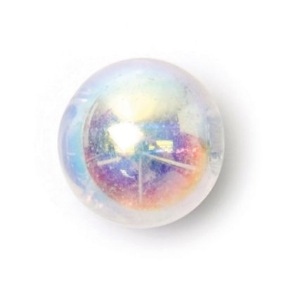 Round Glass Button - Clear - 8.5mm / 12L